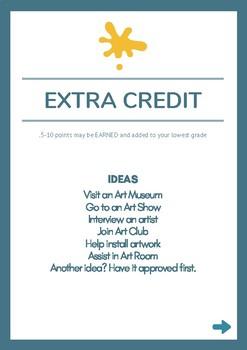 Art Class Extra Credit