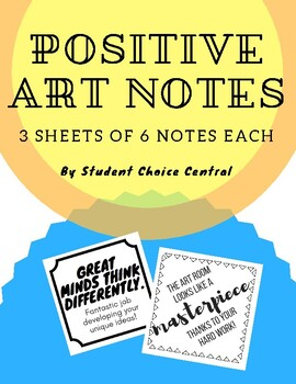 Positive Art Notes Pack