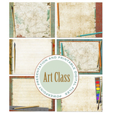 Art Class PowerPoint Presentation and Printable Digital Paper