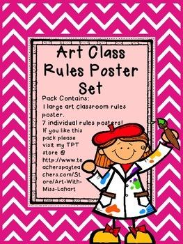 Art Class Rules- Poster Set
