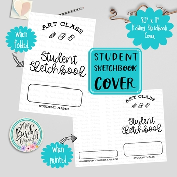 Art Class Student Sketchbook Covers