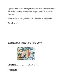 Art Class Sub Plans