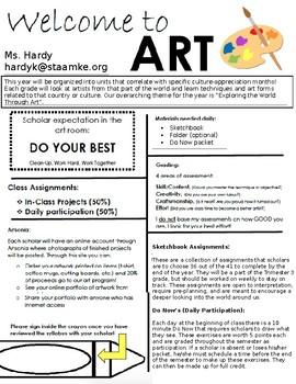 Art Class Syllabus