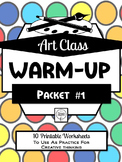 Art Class Drawing Warm-Up Packet 1