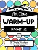Art Class Drawing Warm-Up Packet 2