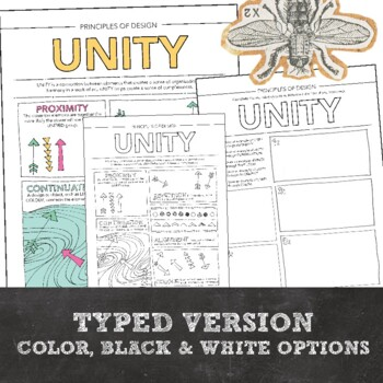 Principles of Design, Unity, Art Activity: Middle or High School Visual Art