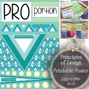Art Classroom Decor: Principle of Design, Proportion, Printable Poster