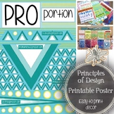Proportion, Principles of Design Printable Poster for a Visual Art Classroom