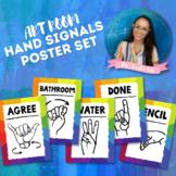 Art Classroom Hand Signals Poster Set
