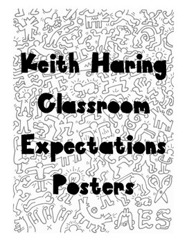 Art Classroom Keith Haring Class Rules Posters