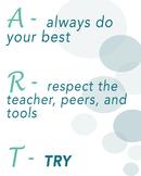 Art Classroom Management Poster