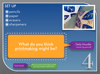 Art Classroom Management, STREAMLINED! The Daily Noodle-Doodle; for  Powerpoint