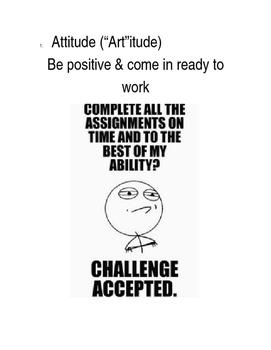 Art Classroom Memes & Expectations