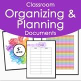 K-5 Art Classroom Organizing Documents