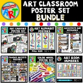 Art Classroom Poster BUNDLE for Elementary Art
