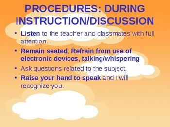 Art Classroom Procedures