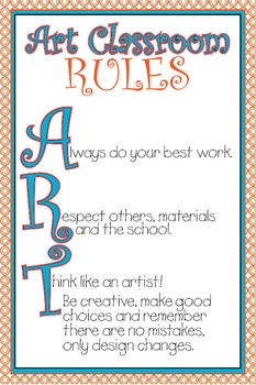 Art Classroom Rules Poster (elementary)