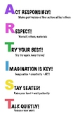 Art Classroom expectations Poster