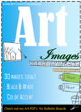 Art Clipart, Images, Add to Slide Decks, Printables, Label
