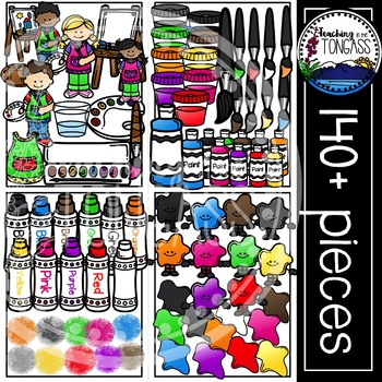 Artist and Art Supplies Clipart MEGA Bundle