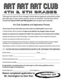 Art Club Application, Acceptance Letter Bundle