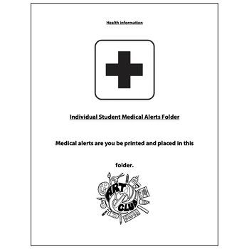 Art Club Health Information Form - Visual Arts Club Elementary Arts Forms
