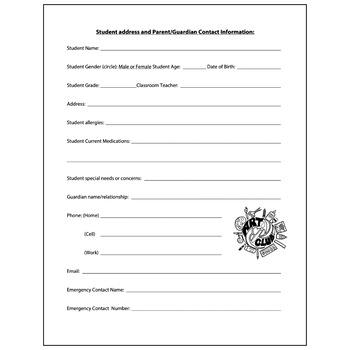 Art Club Medical Information / Concerns - Visual Arts Club