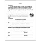 Art Club Art Show Permission Slip - Visual Arts Club Elementary Arts Forms