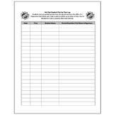 Art Club Pick Up Log Attendance Form - Visual Arts Club Elementary Arts Forms