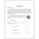 Art Club Notice of Probation Form - Visual Arts Club Elementary Arts Forms