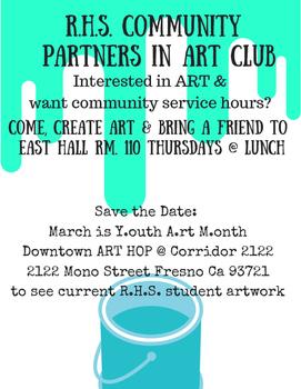 Art Club-YAM flyer