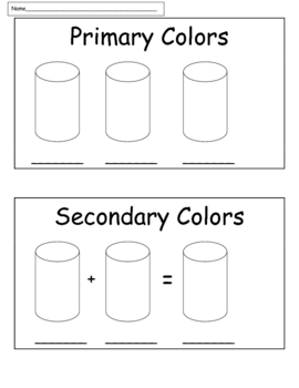 Art: Color Theory Exp.: Mixing Colors