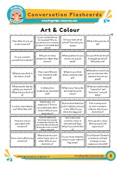 Art & Colour - Conversation Flashcards