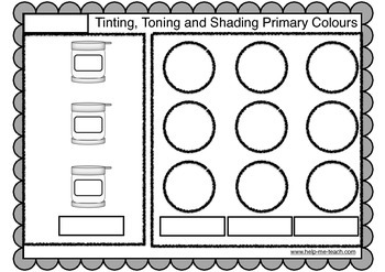 Art: Colour Mixing Activities - Tint, Tone, Shade