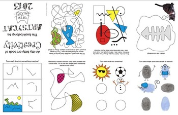 Art Creativity Exercise Foldable (mini book) USA spelling