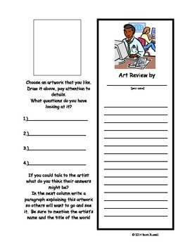 Art Critic - Art Inquiry Worksheet