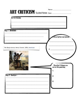 Art Criticism Guided Notes