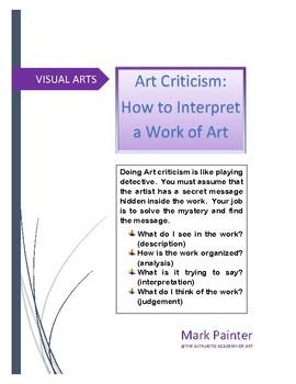 Art Criticism: How to interpret a work of art