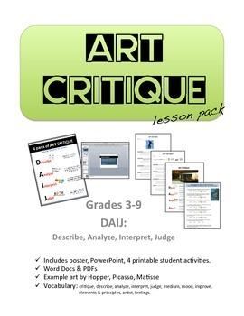 Art Critique Lesson Pack