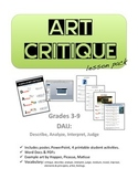 Art Critique Lesson Pack