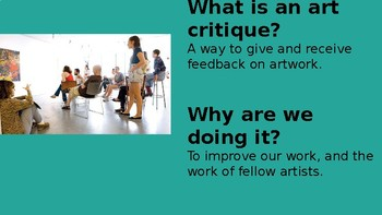 Art Critique Lesson Powerpoint