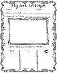 Art Critique Sketch Notes- Primary/Junior (Series 1)- 2 Templates