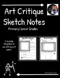 Art Critique Sketch Notes- Primary/Junior (Series 2)- 2 Templates