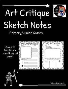 Art Critique Sketch Notes- Primary/Junior (Series 3)- 2 Templates