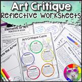 Art Critique Worksheets for Contemporary & Historical Artworks