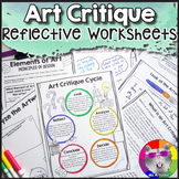 Art Critique Worksheets for Contemporary & Historical Artworks