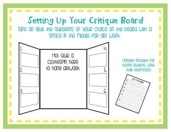 Art Critique on Presentation Board