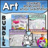 Art Critiques, Reflections, and Artist Statements: Bundle