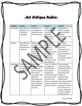 Visual Art Critiques (made easy) Grades 4-8