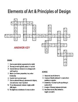 Art Crosswords by The Designers Art Room | Teachers Pay ...
